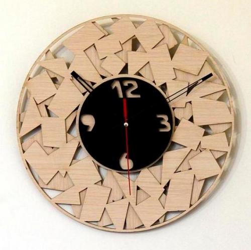 خرید ساعت دیواری چوبی