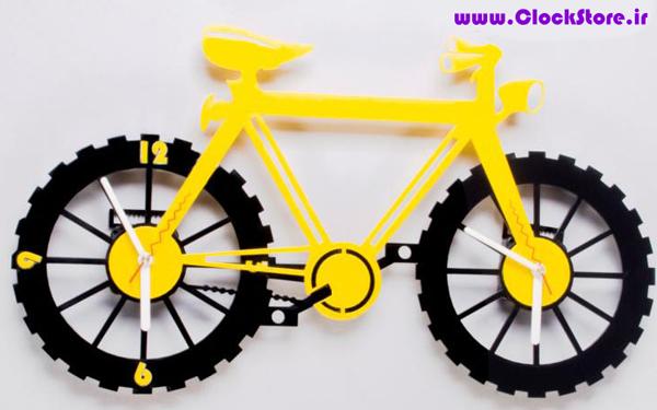 ساعت دیواری فانتزی دوچرخه