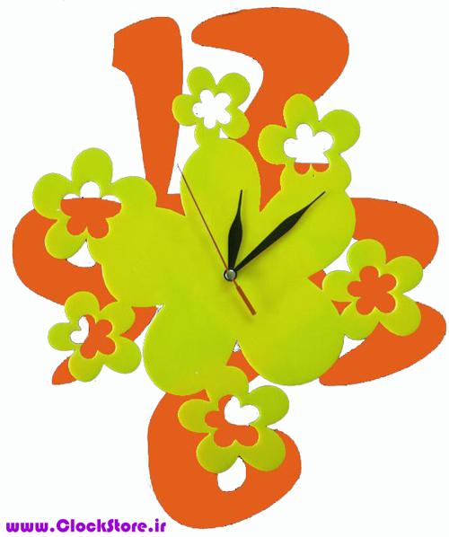 خرید ساعت دیواری فانتزی شکوفه