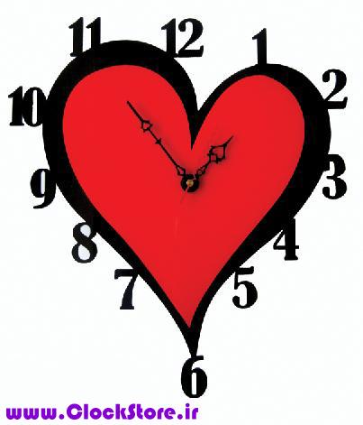ساعت دیواری قلب