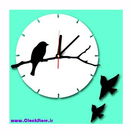 ساعت دیواری پرنده
